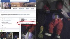 Aka con mi papito por ir a robar, la foto que despertó polémica en Uruguay