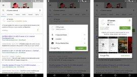 Las aplicaciones para Android podrán descargarse desde los resultados de búsqueda