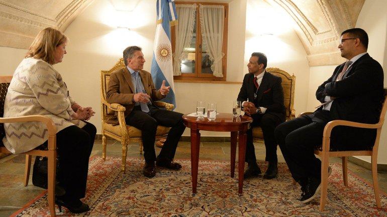 Según Macri, las reuniones que mantuvo hoy fueron muy productivas.
