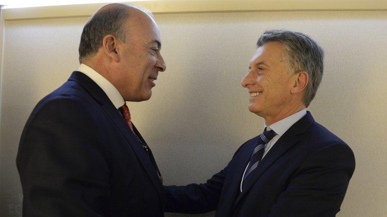 Macri y Muhtar Kent, CEO de Coca Cola