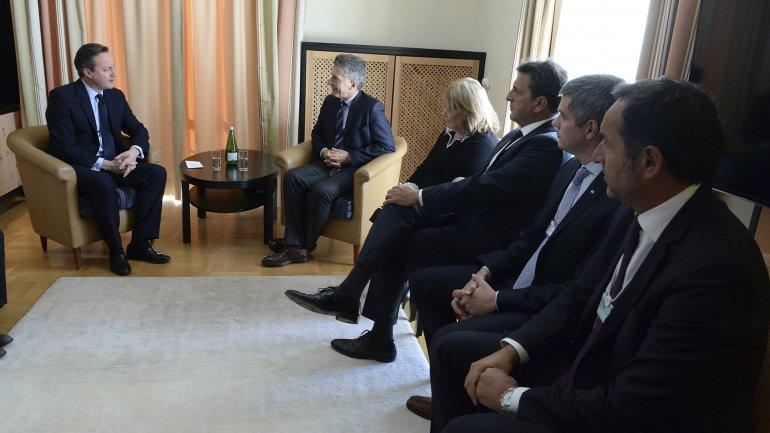 Sergio Massa siguió el encuentro junto a Susana Malcorra y Marcos Peña