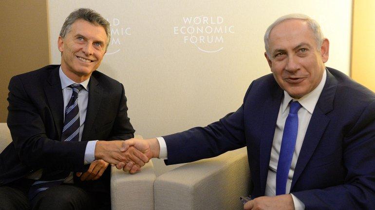 Mauricio Macri y Benjamín Netanyahu