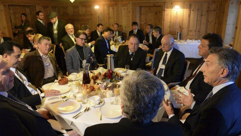 Mauricio Macri desayunó con empresarios este viernes en Davos