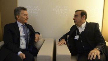 El presidente Mauricio Macri se reunió con Carlos Ghosn, el CEO global de Renault-Nissan.