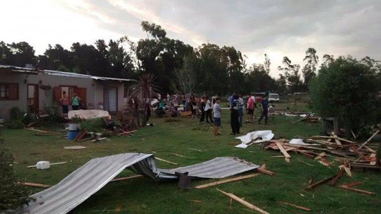 Así quedaron algunas de las casas afectadas por la cola del tornado