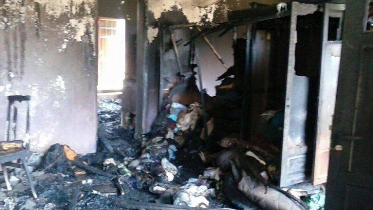Una familia perdió todo durante el incendio