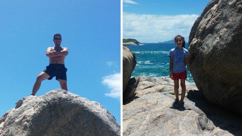 Javier Caballero y su hija Trinidad desaparecieron el viernes en el mar