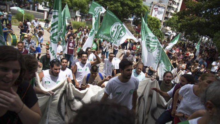El gremio ATE ya había encabezado protestas por despidos en el Ministerio de Justicia