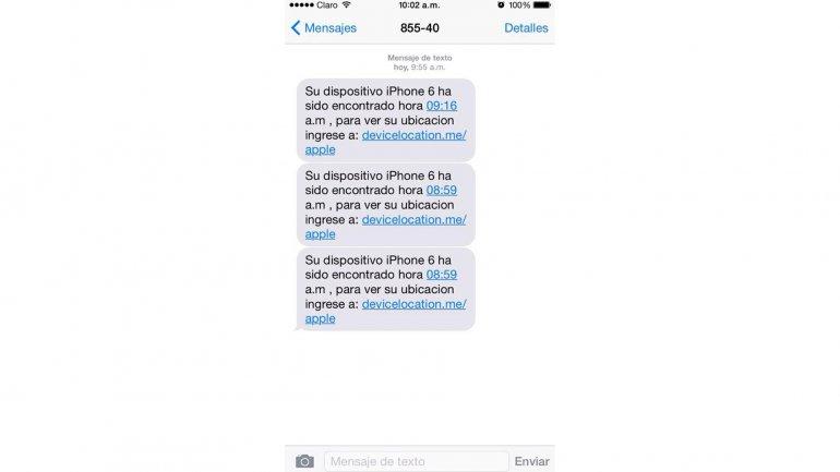 El SMS que envían los atacantes para quedarse con el control de los iPhone robados