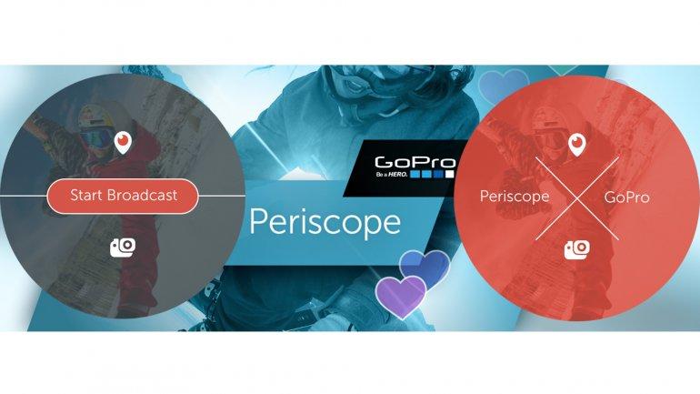 Las GoPro ahora transmiten video en directo a Periscope