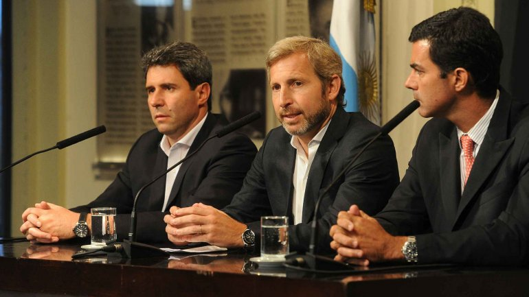 Rogelio Frigerio junto a Sergio Uñac y Juan Manuel Urtubey
