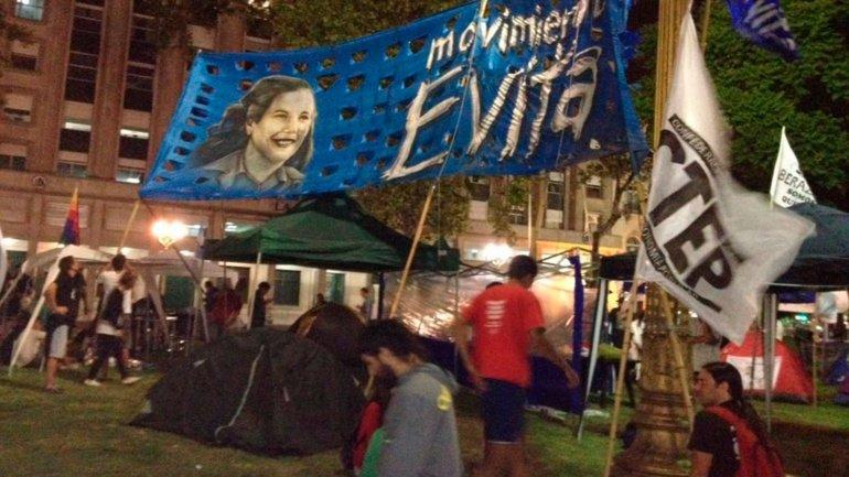 Organizaciones sociales ocuparon la Plaza de Mayo en apoyo a Milagro Sala