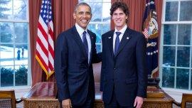 El presidente de los EEUU, Barack Obama, junto al embajador Martín Lousteau