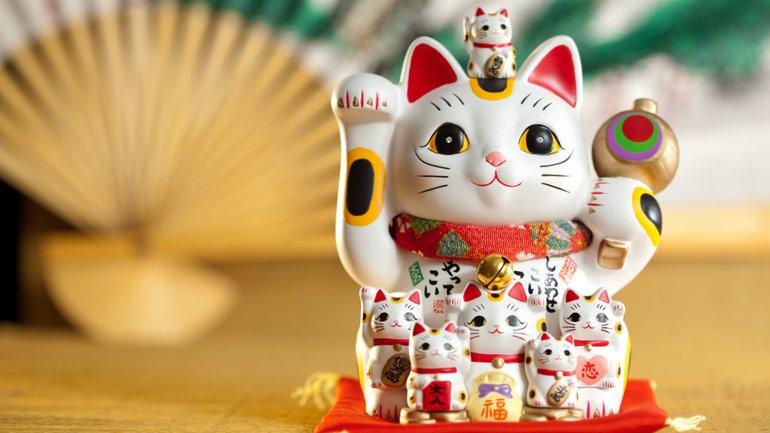 El gatito de la fortuna japonés es de los más populares