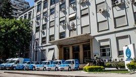 Fachada de la sede de Fabricaciones Militares situada en la ciudad de Buenos Aires