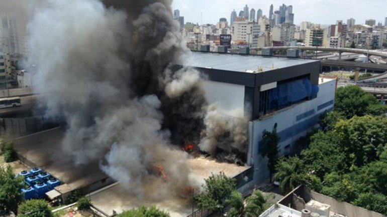 Incendio en Canal 13 y TN