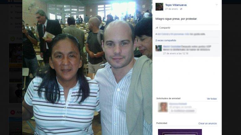 El mensaje de Luis Villanueva en defensa de Milagro Sala