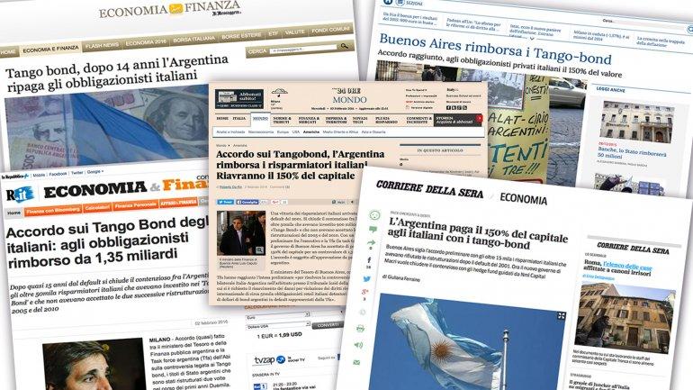 Desde el Correre della sera hasta el Il Sole 24 ore, todos los medios italianos se hicieron eco de la noticia.