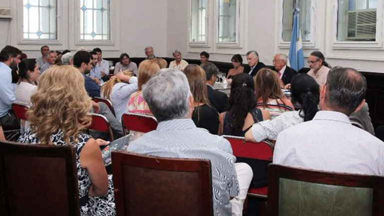 La reunión del FpV en la Cámara de Diputados