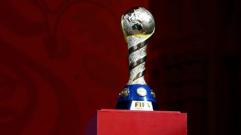 El diseño del logotipo se hizo en base al trofeo de la Copa Confederaciones