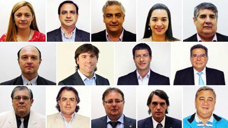 Madera, Snopek, Tentor, Isa, Tomassi, Rubin, Bossio, David, Beder Herrera, Martínez Campos, Macias, Romero, Kosiner y Miranda