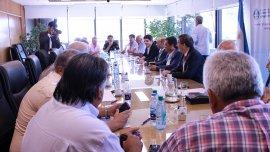 El ministro de Trabajo, Jorge Triaca, en la negociación con los gremios del Transporte