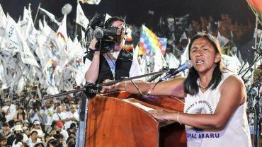 La líder de la organización Tupac Amaru Milagro Sala,acusada por la Justicia de Jujuy de asociación ilícita, fraude y extorsión