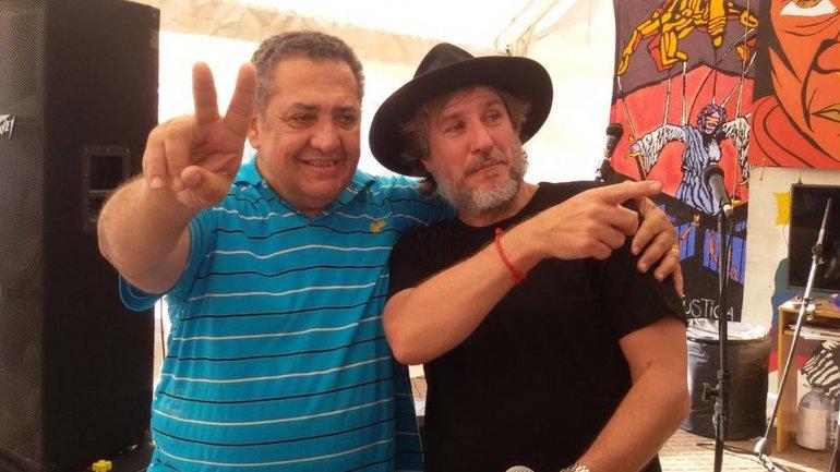 Amado Boudou en una de sus últimas apariciones públicas, junto a Luis DElía
