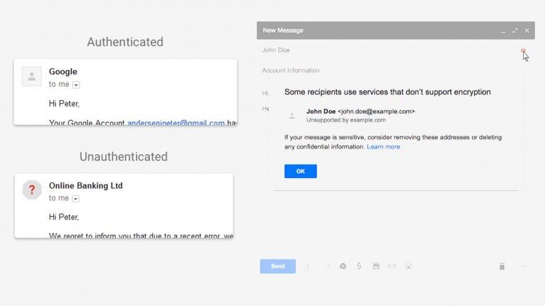 Así avisará Gmail cuando un mensaje no sea seguro