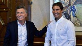 Mauricio Macri y Rafael Nadal, juntos en Casa Rosada