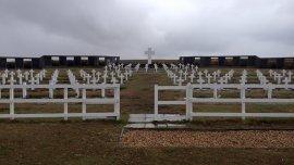Foto de archivo. Cementerio argentino en Malvinas.