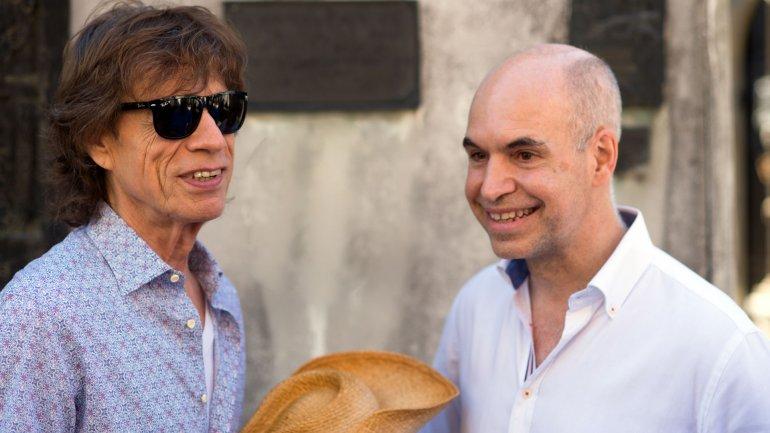 Horacio Rodríguez Larreta y Mick Jagger