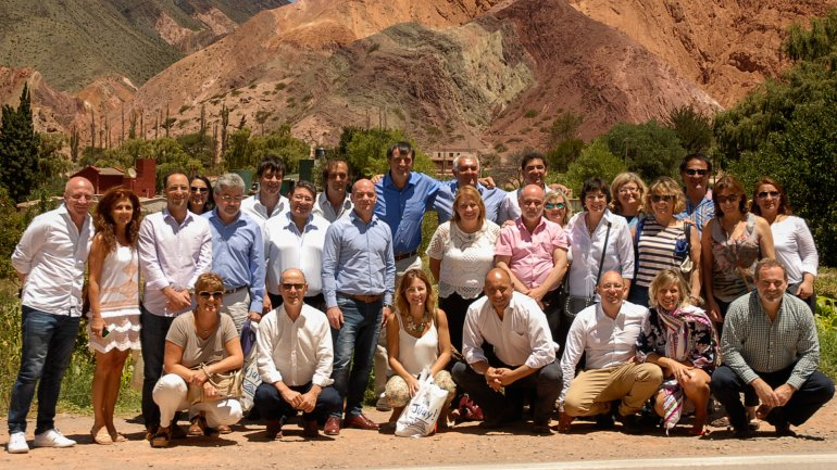 Esteban Bullrich junto a sus pares provinciales en Purmamarca donde se firmó la declaración