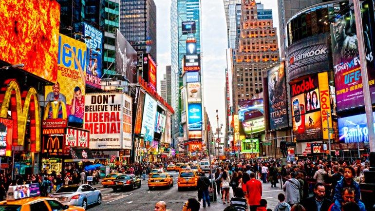 La plaza más concurrida de Nueva York.