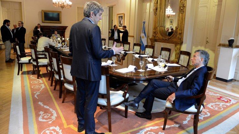 La reunión de Gabinete volvió a la Casa Rosada