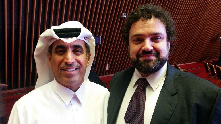 Claudio Epelman junto a Ibrahim al Naimi, director Centro Internacional de Diálogo Interreligioso de Doha