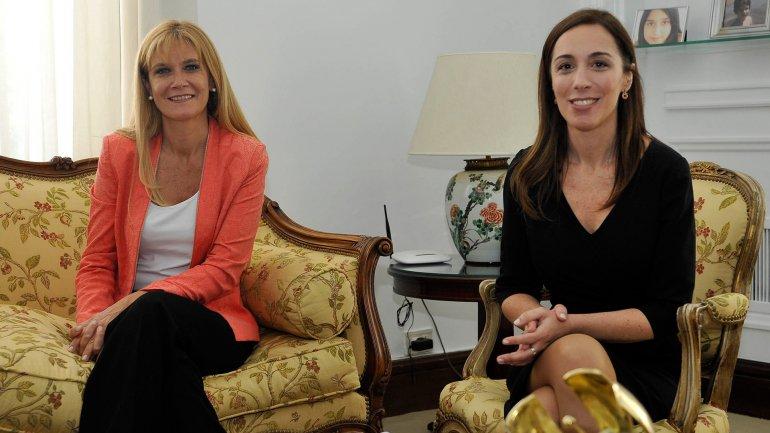 Verónica Magario y María Eugenia Vidal