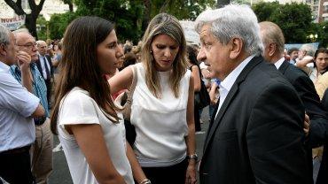 La ex esposa de Nisman, Sandra Arroyo Salgado, junto al gremialista Julio Piumato en un nuevo acto para recordar al fiscal.