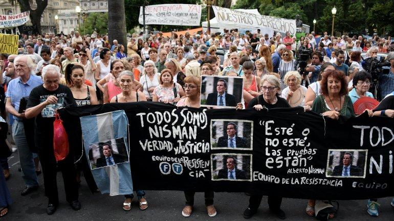 La semana pasada se realizó una movilización para pedir justicia por la muerte del fiscal fallecido
