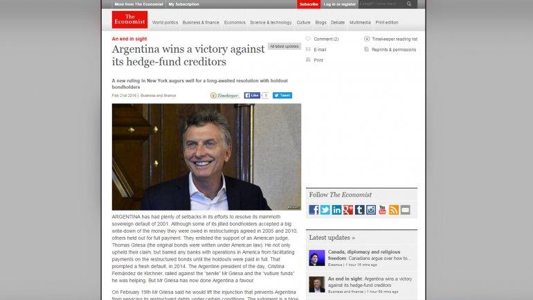 The Economist: La decisión de Griesa priva a los holdouts de la ventaja que tenían sobre Argentina