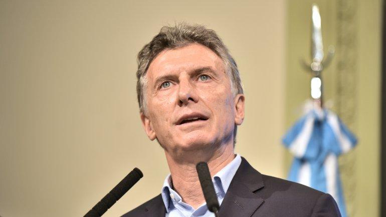Mauricio Macri durante la conferencia