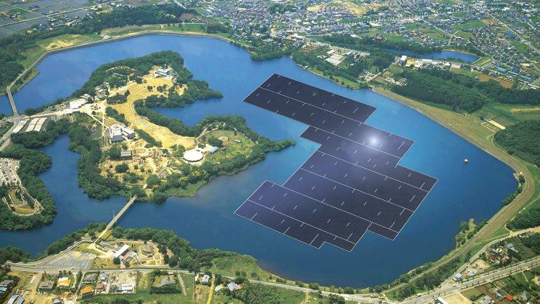 La energía del sol, desplegada en el agua