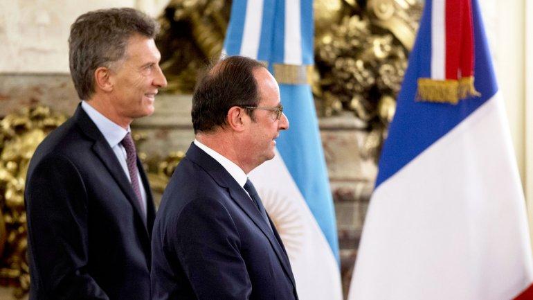 El presidente Francois Hollande realizó una visita oficial de dos días a la Argentina.