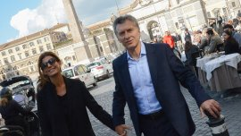 Mauricio Macri y Juliana Awada en Roma
