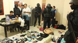 El momento de la detención de Javier Hernán Pino