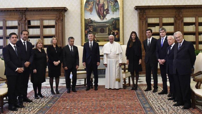 Susana Malcorra fue una de las integrantes de la comitiva presidencial que visitó al papa Francisco