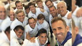 El equipo se sacó una selfie tras llegar a Polonia