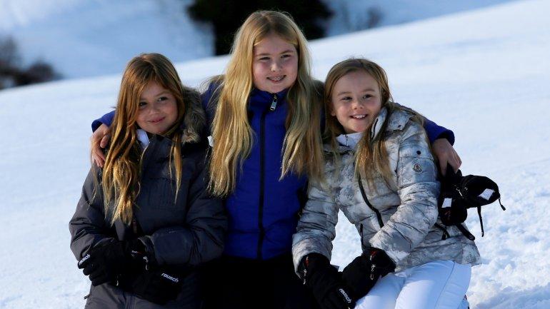 Las tres princesas de Holanda,Alexia,Catharina-Amalia y Ariane