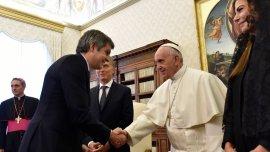 Marcos Peña fue aprte de la delegación que visitó al papa Francisco