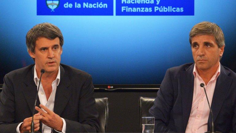Alfonso Prat Gay y Luis Caputo